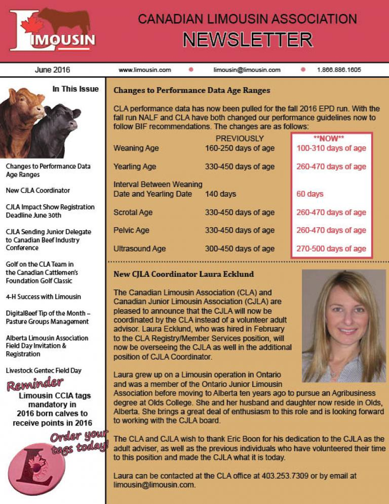 CLA June 2016 Newsletter